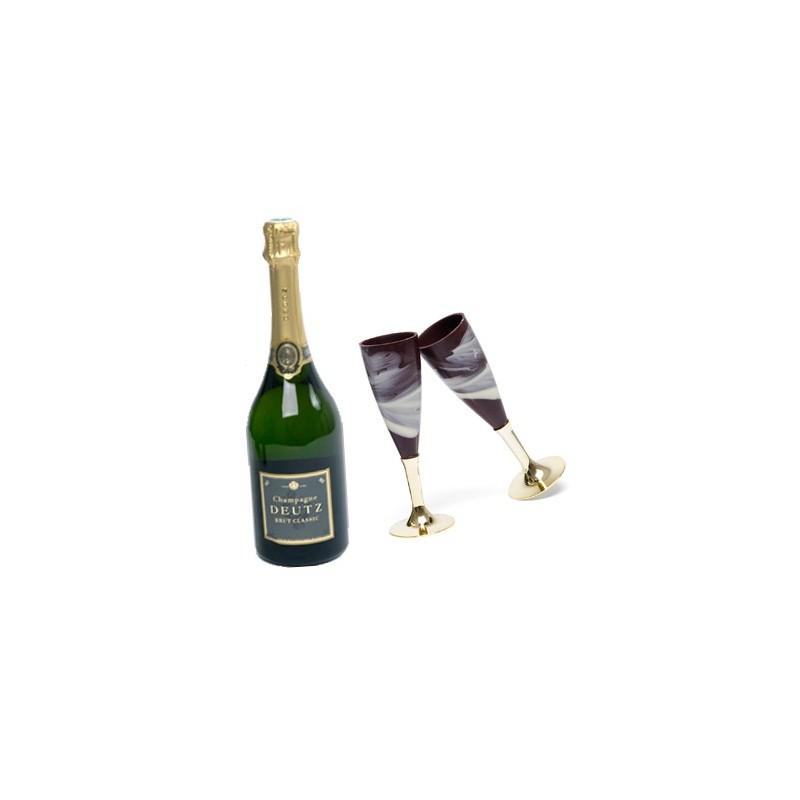 flute a champagne en chocolat