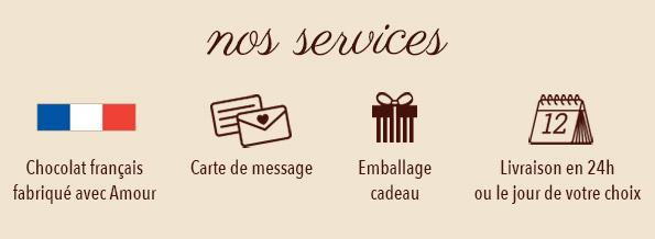 services de livraison de chocolat D'lys couleurs