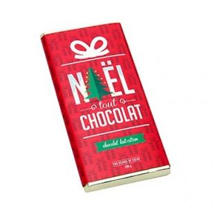 Tablette chocolat de Noël lait et citron