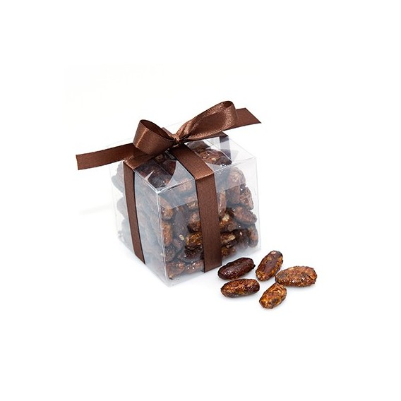 Fèves de cacao torréfiées et caramélisées