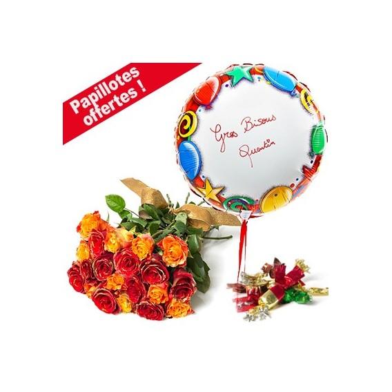 Roses de Noël et Ballon personnalisé