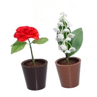 Duo de muguet et rose en chocolat