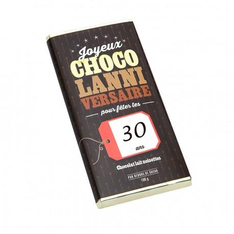 Tablette chocolat Anniversaire