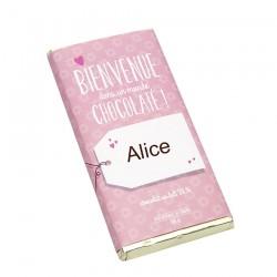 Tablette chocolat Naissance fille