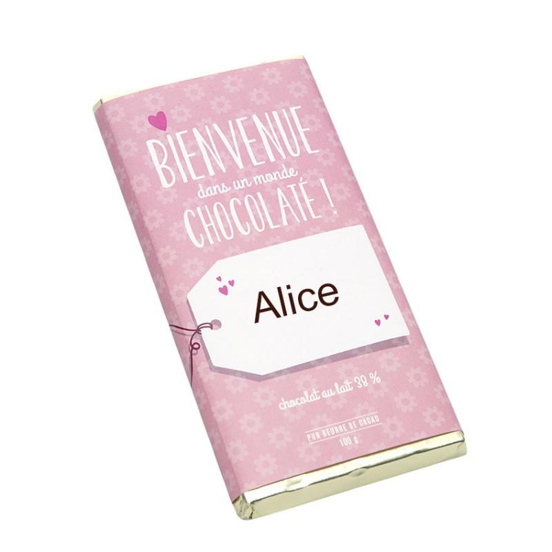 Populaire Tablette chocolat Naissance fille - Chocolat personnalisé D'lys  OM11
