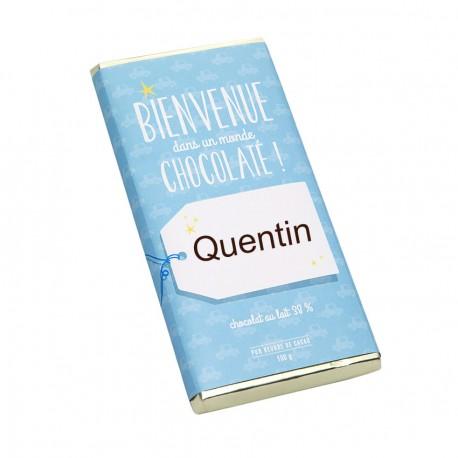 Tablette chocolat Naissance garçon