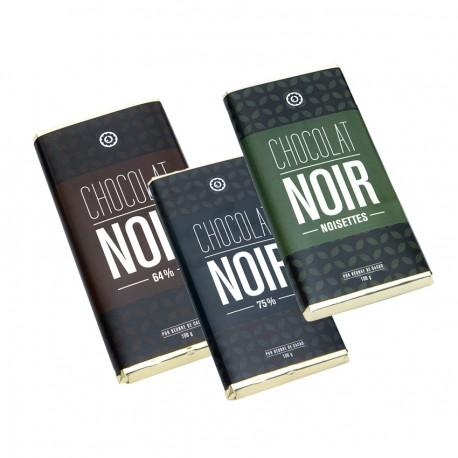 Trio tablettes chocolat noir