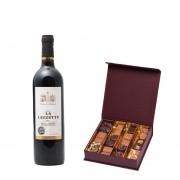 Chocolats et vin rouge de Bordeaux