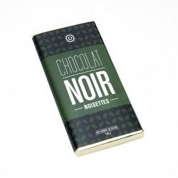 Tablette chocolat noir et noisettes