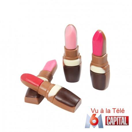 Rouge à lèvres en chocolat