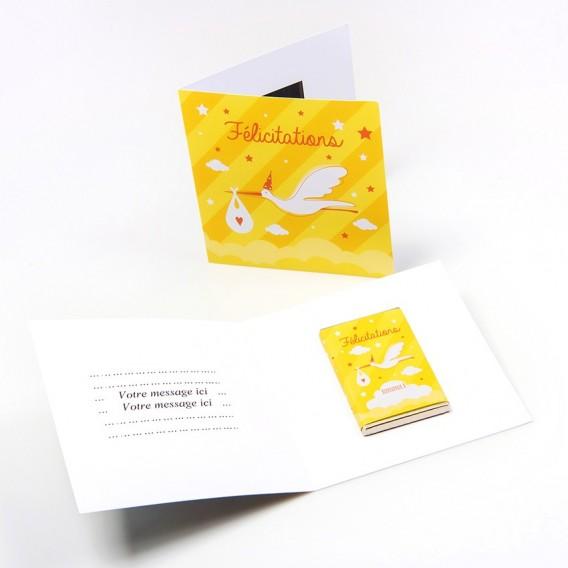 Carte Félicitations Et Chocolat