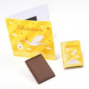 Carte Félicitations chocolat