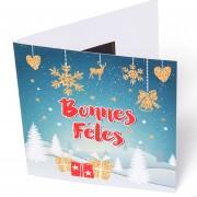 Carte de voeux bonnes fêtes