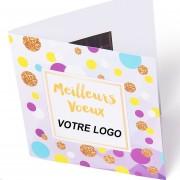 Carte Voeux et chocolat avec votre Logo