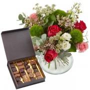offrir fleurs et chocolats
