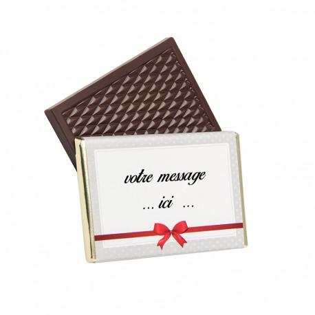 chocolat à personnaliser avec votre message