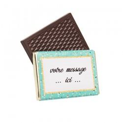 Tablette de chocolat personnalisée