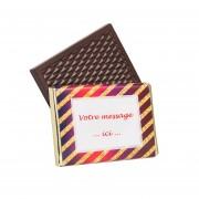 Mini tablette de chocolat de Noël personnalisée