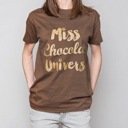 "Tee-shirt ""miss chocolat de l'univers"""