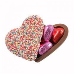 Coeur chocolat saint valentin