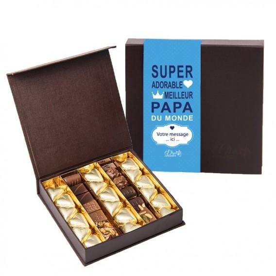 Chocolats SuperPapa avec votre message