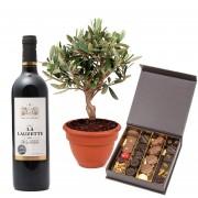 Chocolats, Olivier et Vin rouge