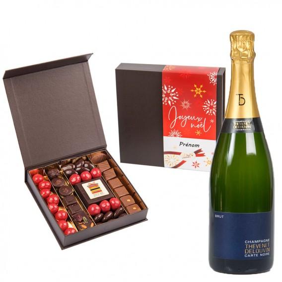 champagne et chocolat personnalisé