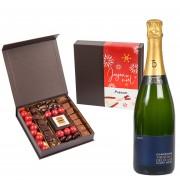 Champagne et chocolat de Noël