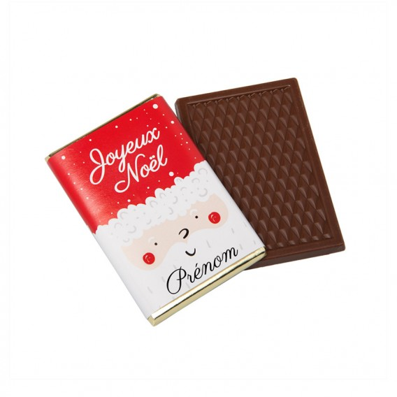 Mini tablette de chocolat Noël