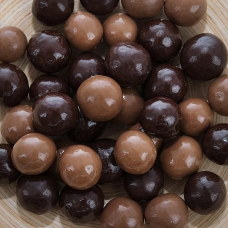 Céréales soufflées enrobées de chocolats