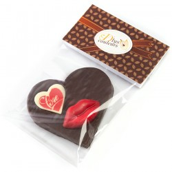 Coeur en chocolat Je t'aime