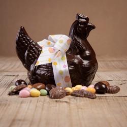 Poule chocolat noir de Pâques