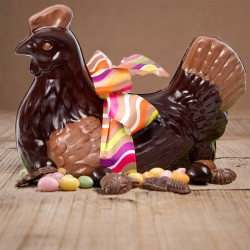 poule de pâques au chocolat
