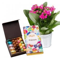 fleurs chocolat paques