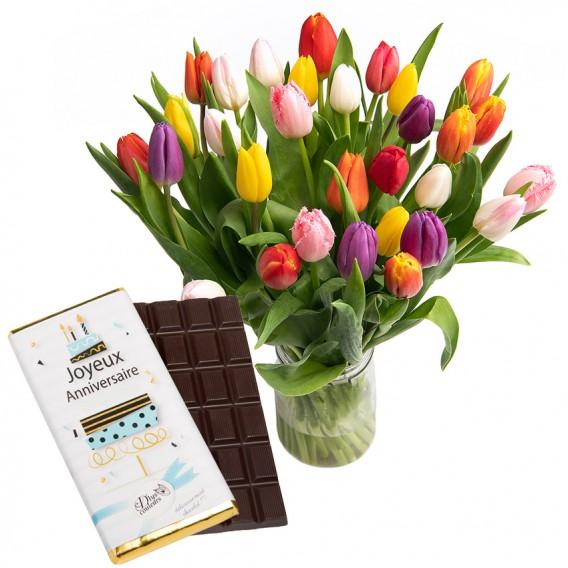 offrir bouquet fleurs