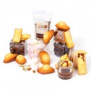 Fondue au chocolat pour 6 personnes (Guimauves, galettes, chocolat, gâteaux, amandes et assortiment noisette)