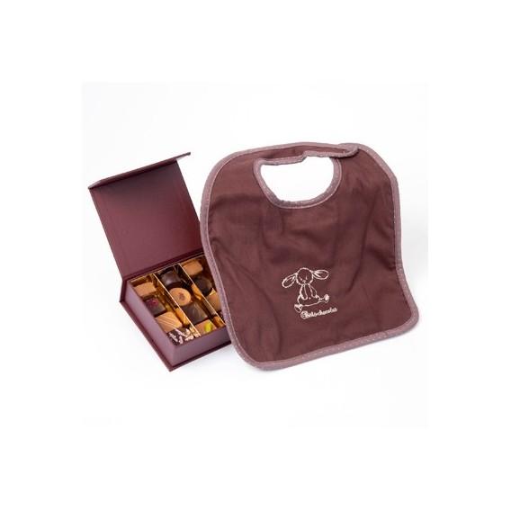 Chocolats et Bavoir chocolat (125g)