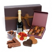 chocolat champagne saint valentin