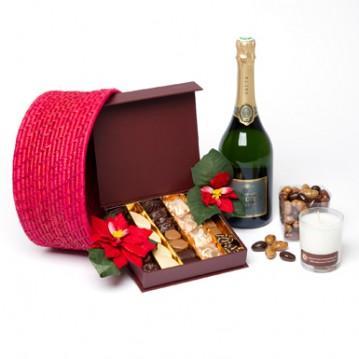 chocolat de noel et champagne