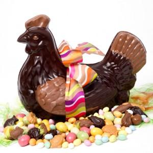 poule chocolat paques