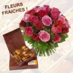 Fleurs et chocolats, le cadeau max !