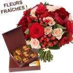 Livraison de fleurs et chocolats pour la fête des mères