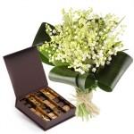 Livraison de muguet et chocolats pour le 1er mai