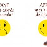 Avant / Après le chocolat
