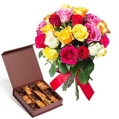 Livraison fleurs et chocolat