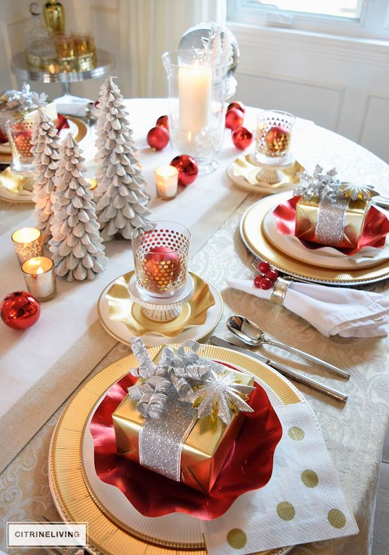idée décoration table de noël