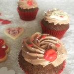 Cupcakes au chocolat pour la Saint-Valentin