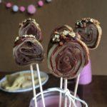 Sucettes de crêpes au chocolat pour la chandeleur