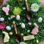 Cuillères en chocolat de Pâques