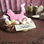 Gâteau de pâques : tarte au chocolat et mangue passion